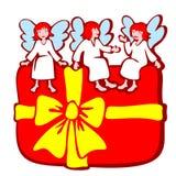 Anjos e caixa da árvore ilustração do vetor