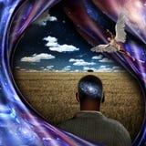 Anjos e universo ilustração do vetor