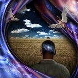 Anjos e universo ilustração royalty free