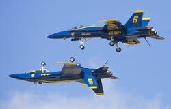 Anjos F-18 azuis Imagem de Stock