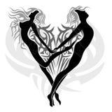 Anjos Loving Imagens de Stock