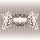Anjos no estilo de um barroco Imagens de Stock