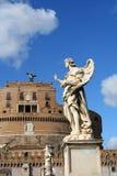 Anjos no Ponte Sant'Angelo Imagem de Stock Royalty Free