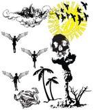 Anjos, o vetor inoperante ilustração do vetor