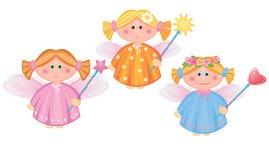 Anjos pequenos. ilustração stock