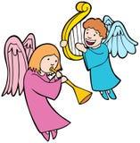 Anjos que jogam instrumentos ilustração royalty free