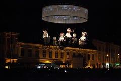 Anjos que vêm para baixo Fotografia de Stock Royalty Free