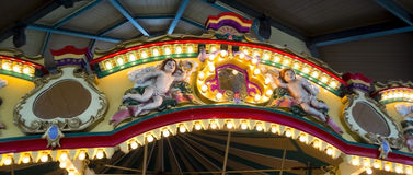 Anjos sobre um caroussel Imagem de Stock Royalty Free