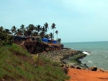 Anjuna海滩,果阿美丽的景色  库存图片