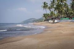 Anjuna Beach famous tourist destination, Goa, India Royalty Free Stock Photography
