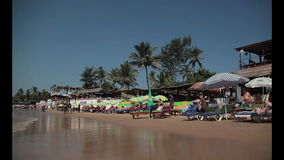 Anjuna beach stock video