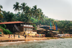 Anjuna Beach in North Goa, India Royalty Free Stock Photos
