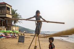 Anjuna, Goa, Ινδία Στοκ Εικόνες