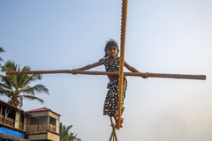 Anjuna, Goa, Ινδία Στοκ εικόνα με δικαίωμα ελεύθερης χρήσης