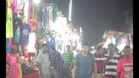 Anjuna-Nachtmarkt stock video footage