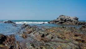 Anjuna strand av goaen Royaltyfri Fotografi