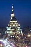 Ankündigungs-Kathedrale in Kharkov in der blauen Stunde im Winter Stockbild