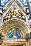 Ankündigungs-Mosaik-Fassade Duomo-Kathedrale Florence Italy stockfotografie