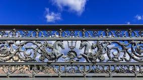 Ankündigungsbrücke in St Petersburg, Russland stockbild