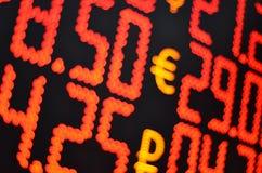 ank av pengarutbytet Arkivfoton