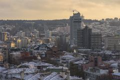 Ankara, capital de Turquía en invierno Fotos de archivo