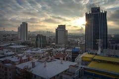 Ankara, capital de Turquía en invierno Imagen de archivo libre de regalías