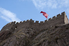Ankara Castle. A low angle view of the Castle in Ankara, Turkey. It is a landmark of the city Royalty Free Stock Images