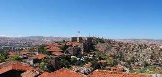 Ankara Castle. And Ankara houses, Ankara - Turkey Royalty Free Stock Photo