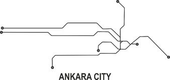 Ankara City map. Available in vector file format Royalty Free Stock Images