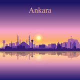 Ankara city skyline silhouette background Stock Images