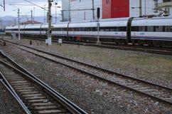 Ankara drev, station som är gammal, svart royaltyfri foto
