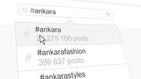 Ankara hashtag rewizja przez ogólnospołecznych medialnych poczta świadczenia 3 d ilustracji