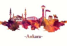 Ankara Indyczy linia horyzontu w rewolucjonistce ilustracja wektor
