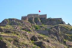 Ankara kasztel na niebieskiego nieba tle fotografia stock