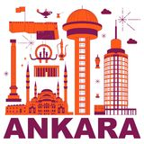 Ankara kultury podróży set royalty ilustracja