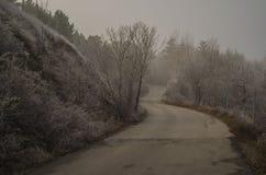 Ankara, lago, strada, blu, inverno fotografia stock libera da diritti
