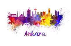Ankara linia horyzontu w akwareli royalty ilustracja