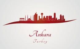 Ankara linia horyzontu w czerwieni ilustracji