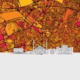 Ankara linii horyzontu mapa royalty ilustracja