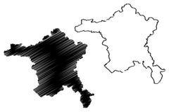 Ankara mapy wektor royalty ilustracja