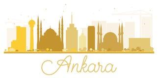 Ankara miasta linii horyzontu złota sylwetka Obraz Stock