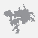 Ankara miasta mapa w szarość na białym tle ilustracja wektor