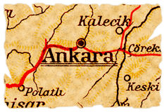 Ankara old map Royalty Free Stock Photo