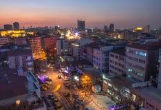 Ankara panorámica y Anitkabir en la noche Fotos de archivo