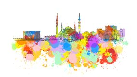 Ankara punktu zwrotnego Kolorowy sztandar Zdjęcie Royalty Free