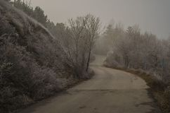 Ankara sjö, väg, blått, vinter royaltyfri foto