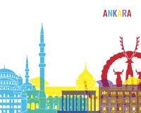 Ankara skyline pop Royalty Free Stock Images