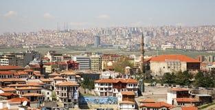 Ankara stad område moscow en panorama- sikt kalkon Royaltyfria Foton