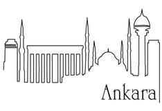 Ankara stolica royalty ilustracja