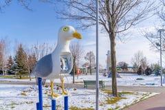 Ankara, styczeń 01 2019/: Jawny telefon projektujący jako seagull obraz royalty free